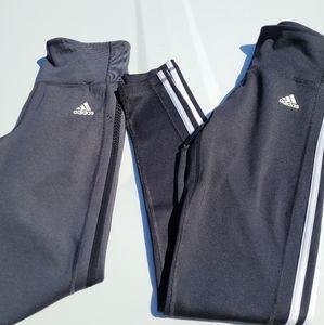 2 pair adidas climalite leggings